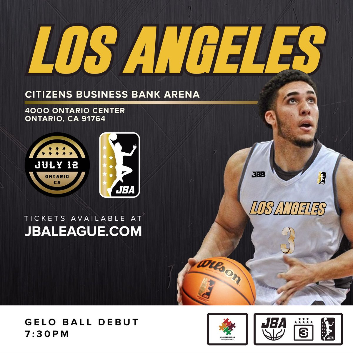 LiAngelo Ball Joins Los Angeles JBA Basketball Team