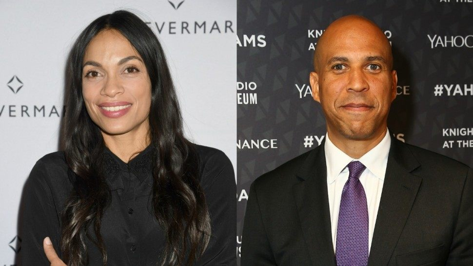 Cory Booker has Reportedly Been Dating Rosario Dawson for a Month
