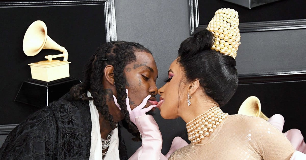 Cardi B and Offset Publicly Reunite at Grammys Red Carpet