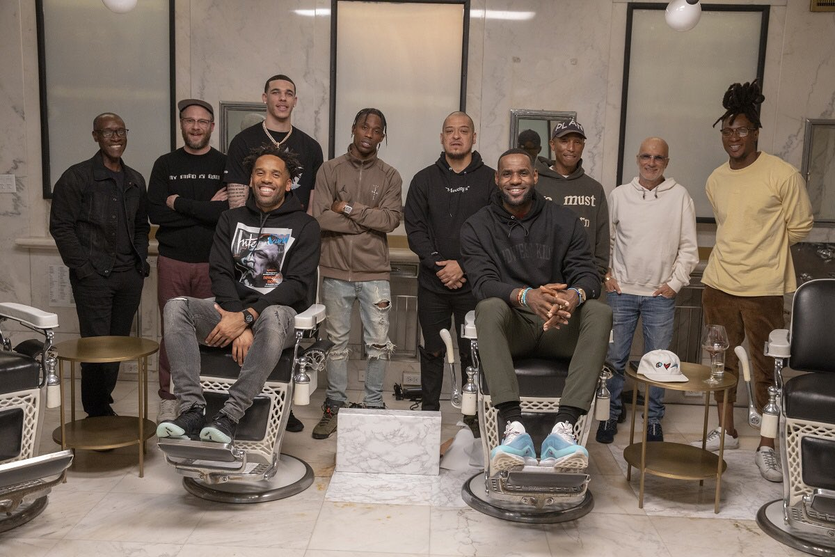 Lonzo Ball, Pharrell, Travis Scott and More to Visit LeBron James on 'The Shop'