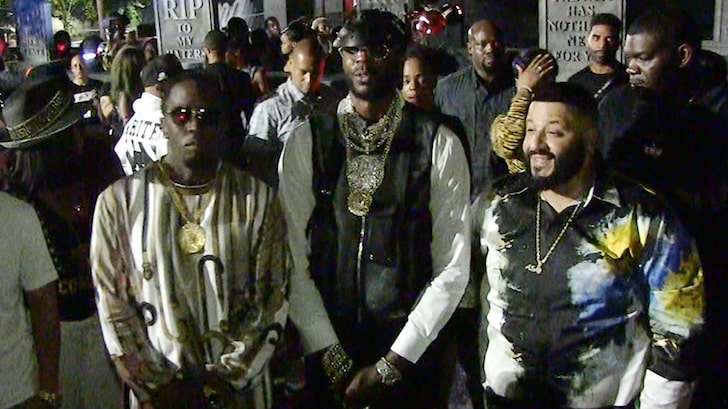 Diddy Gifts 2 Chainz With New White Grape Ciroc at his Birthday Party
